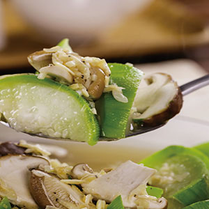 清蒸絲瓜鮮菇