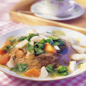 青蔬燴肉粽
