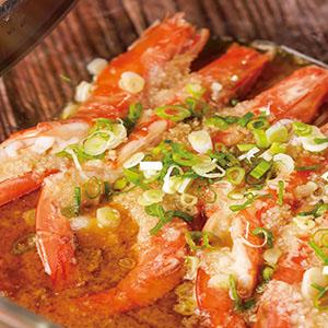 蒜泥蒸蝦(4)