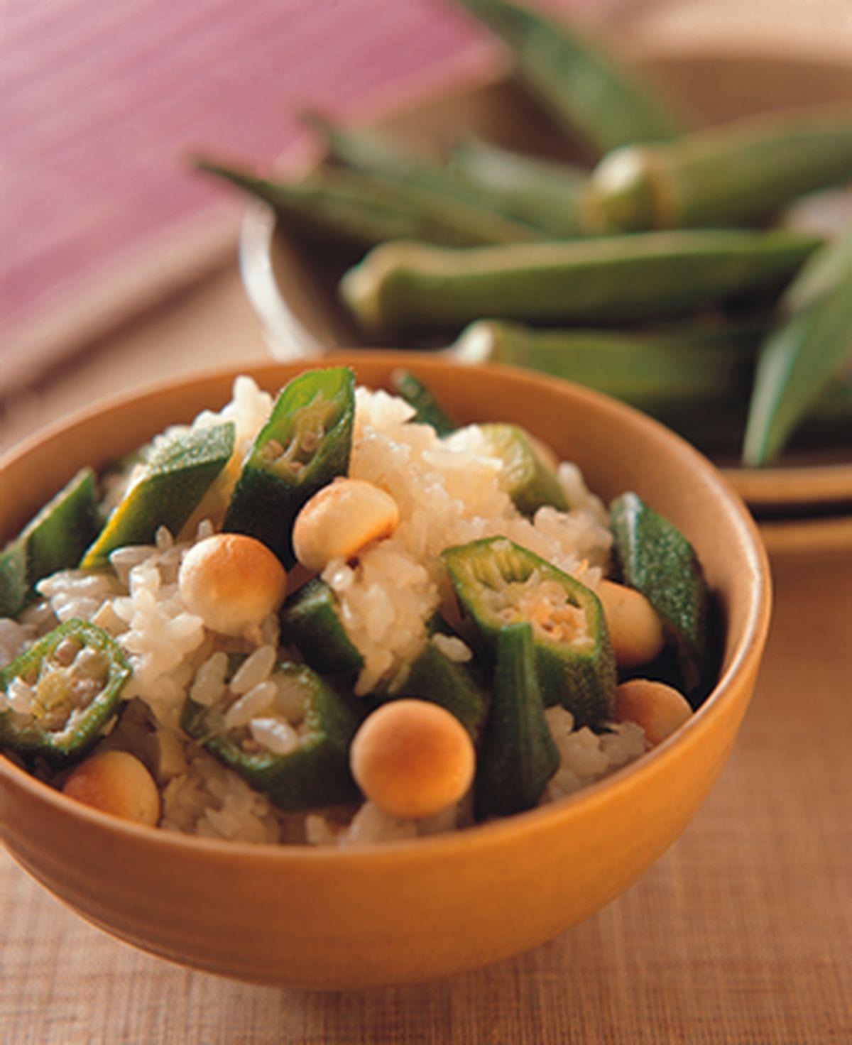 食譜:秋葵飯