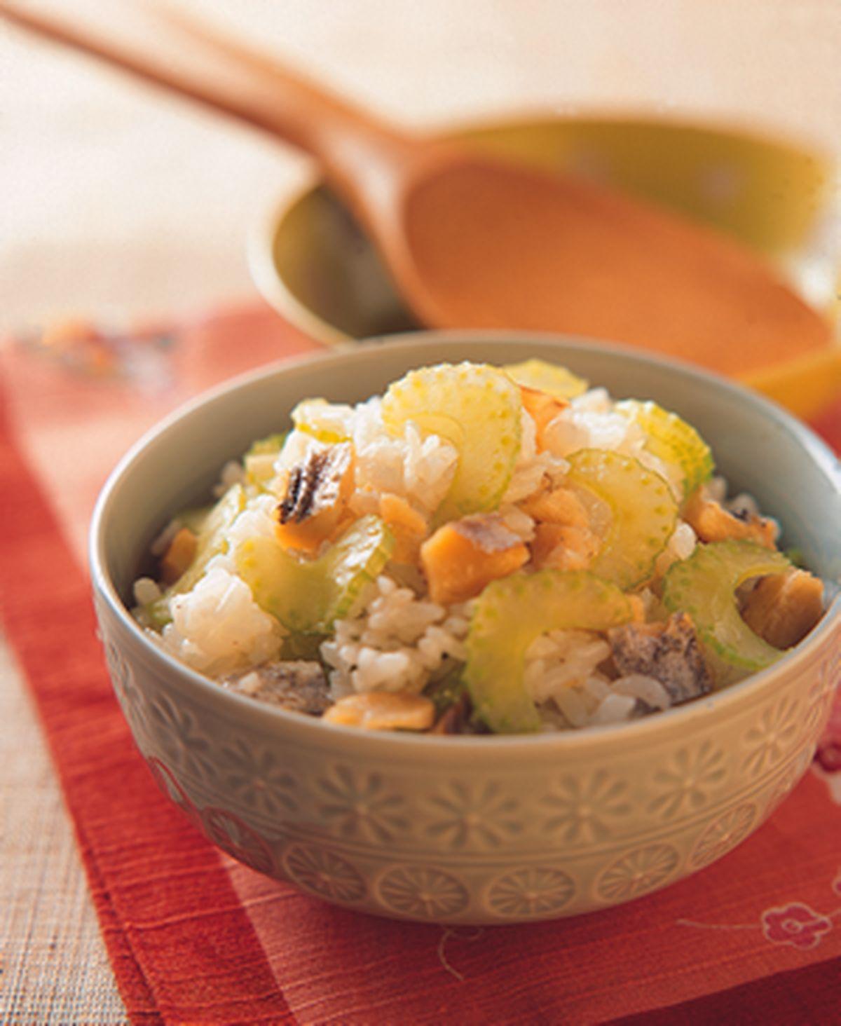 食譜:西芹鹹魚飯