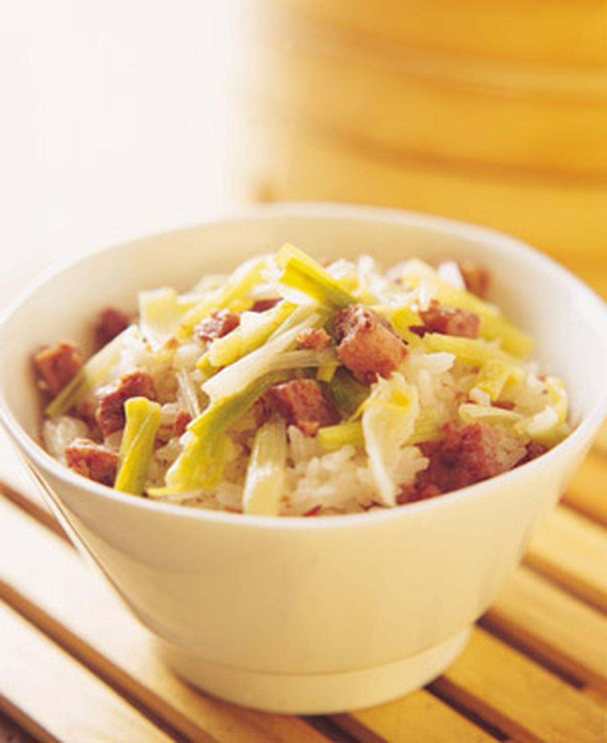 食譜:蒜苗糯米飯