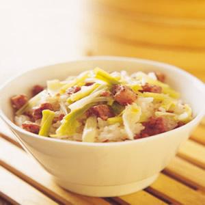 蒜苗糯米飯