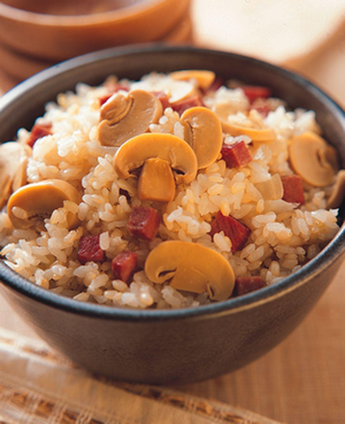食譜:蘑菇火腿飯