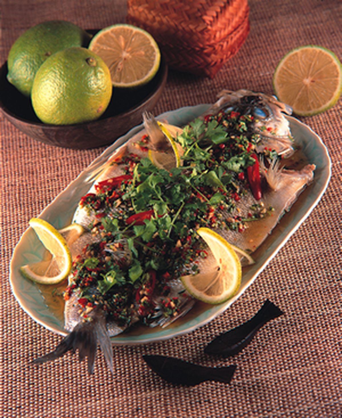 食譜:清蒸檸檬魚