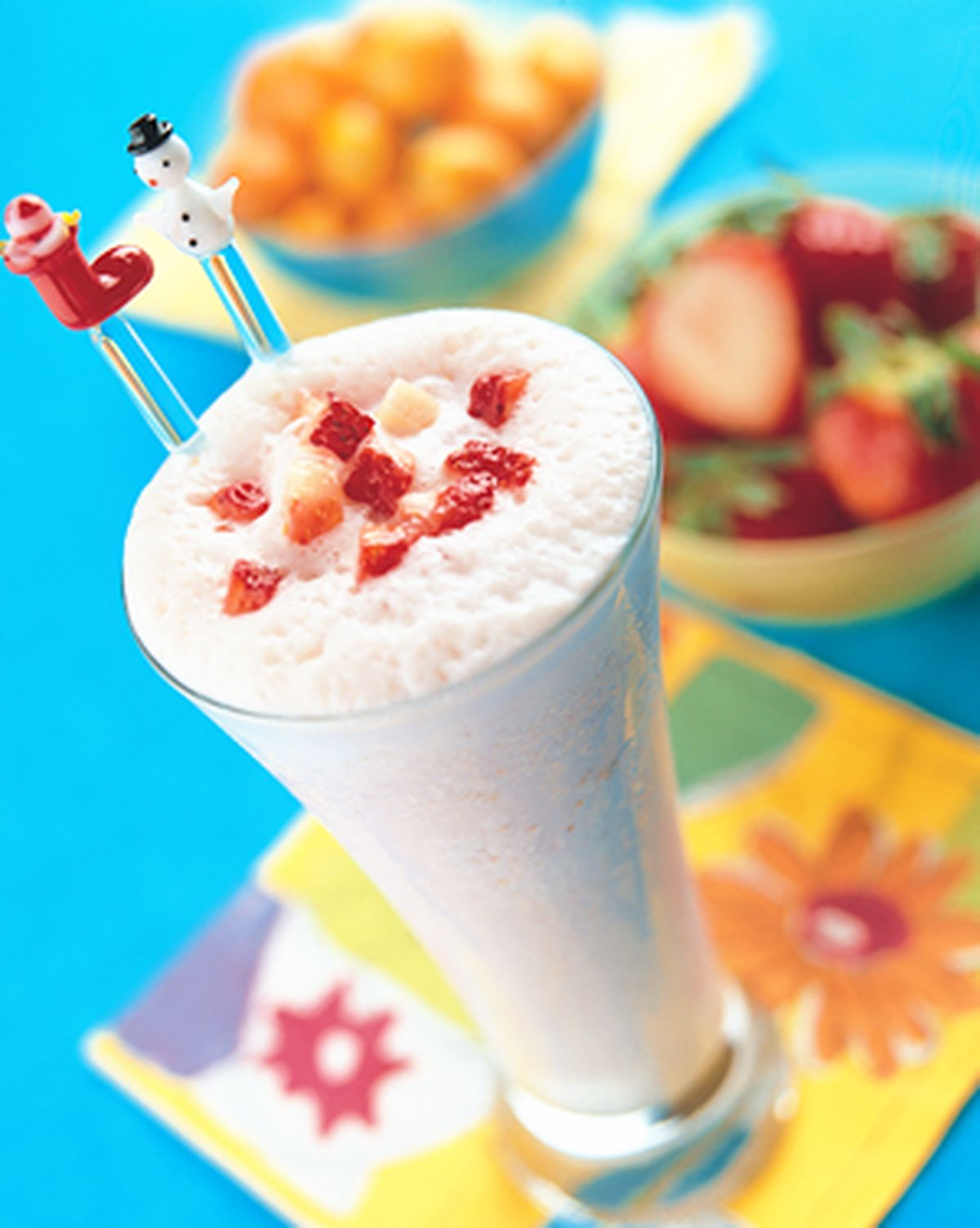 食譜:草莓優格雪霜