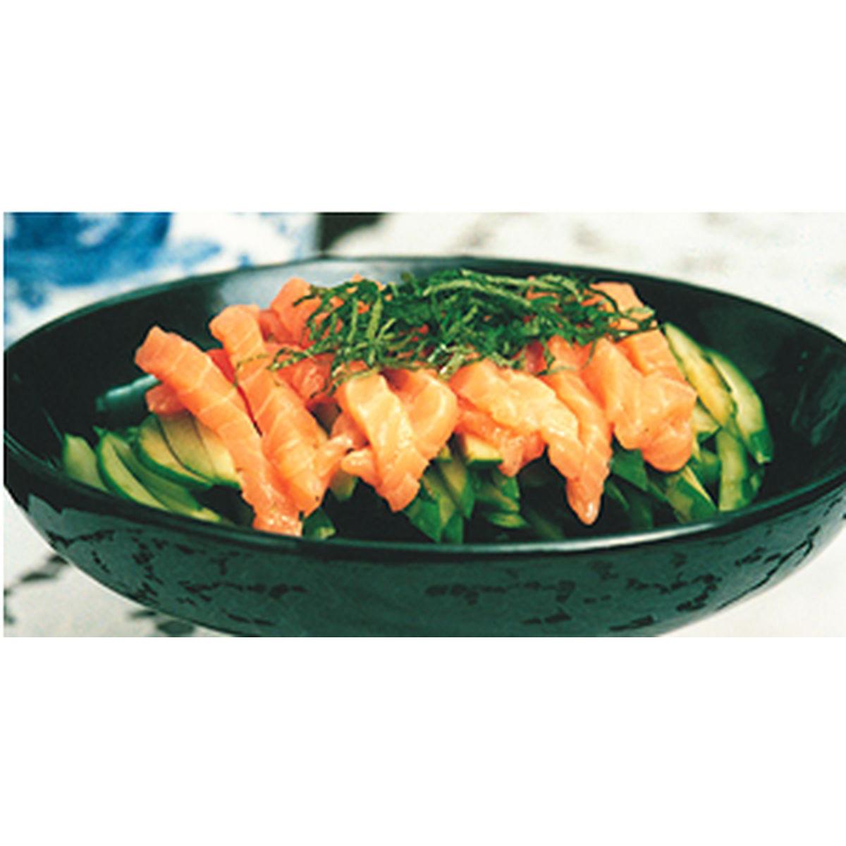 食譜:紫蘇黃瓜拌鮭魚