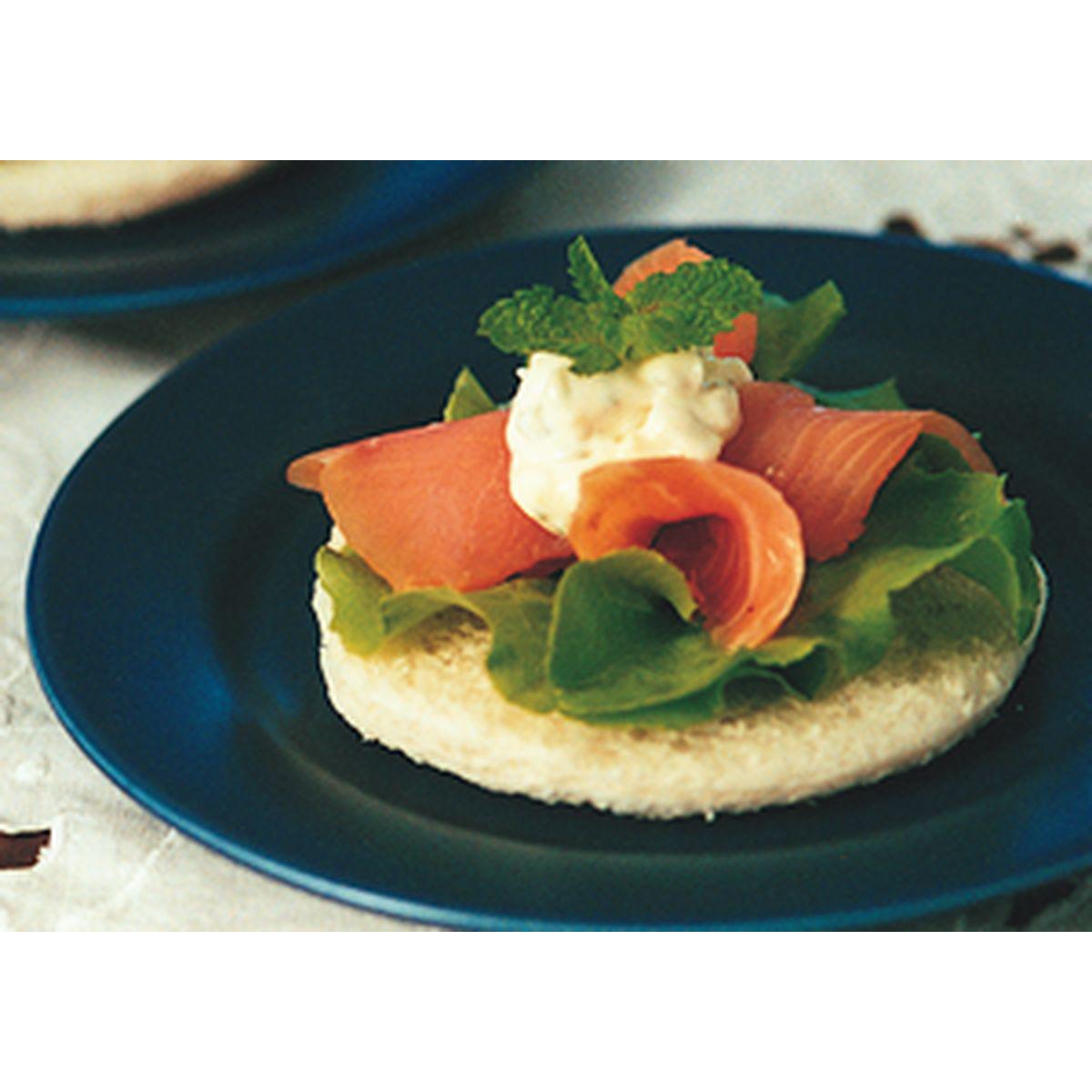 食譜:燻鮭開面三明治