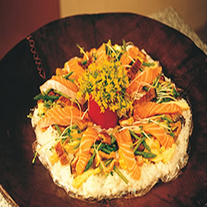 生鮭花散壽司