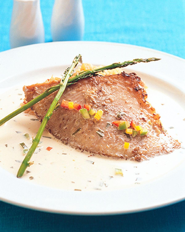 食譜:香煎鰩魚佐艾葉醬