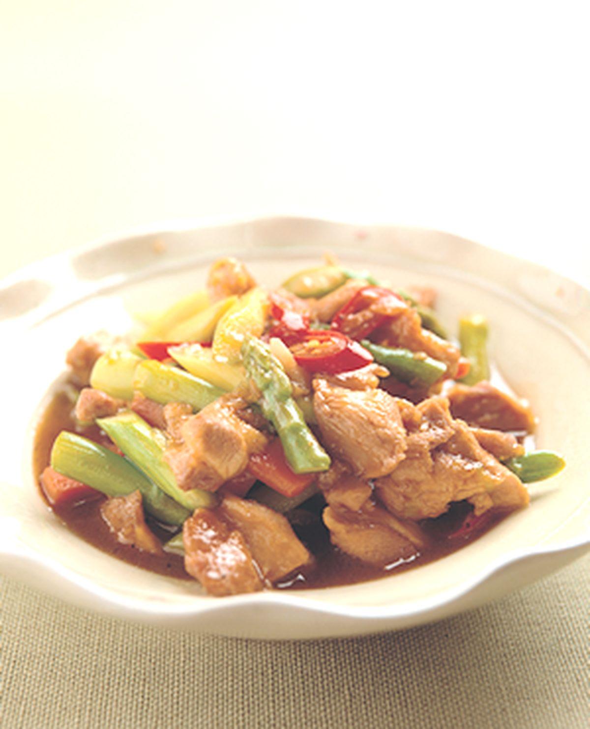 食譜:蘆筍雞片