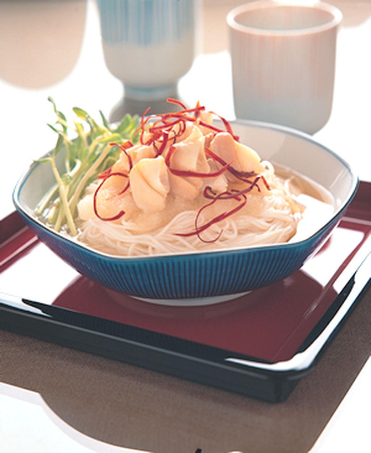 食譜:仙女貝冷壽麵