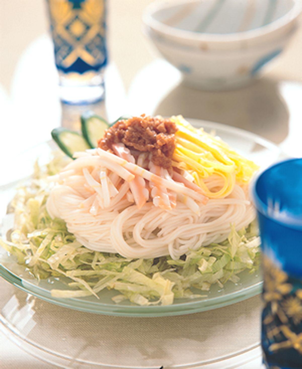 食譜:梅干冷壽麵