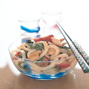 野菜沙拉烏龍麵
