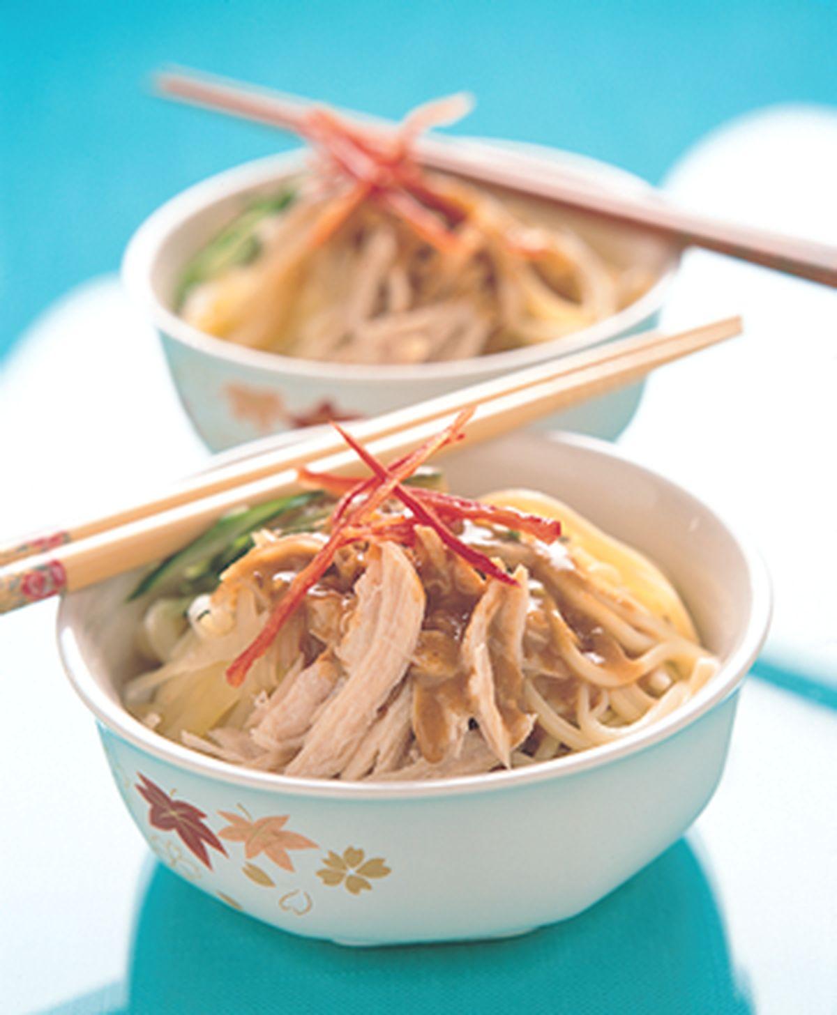 食譜:棒棒雞絲冷中華麵