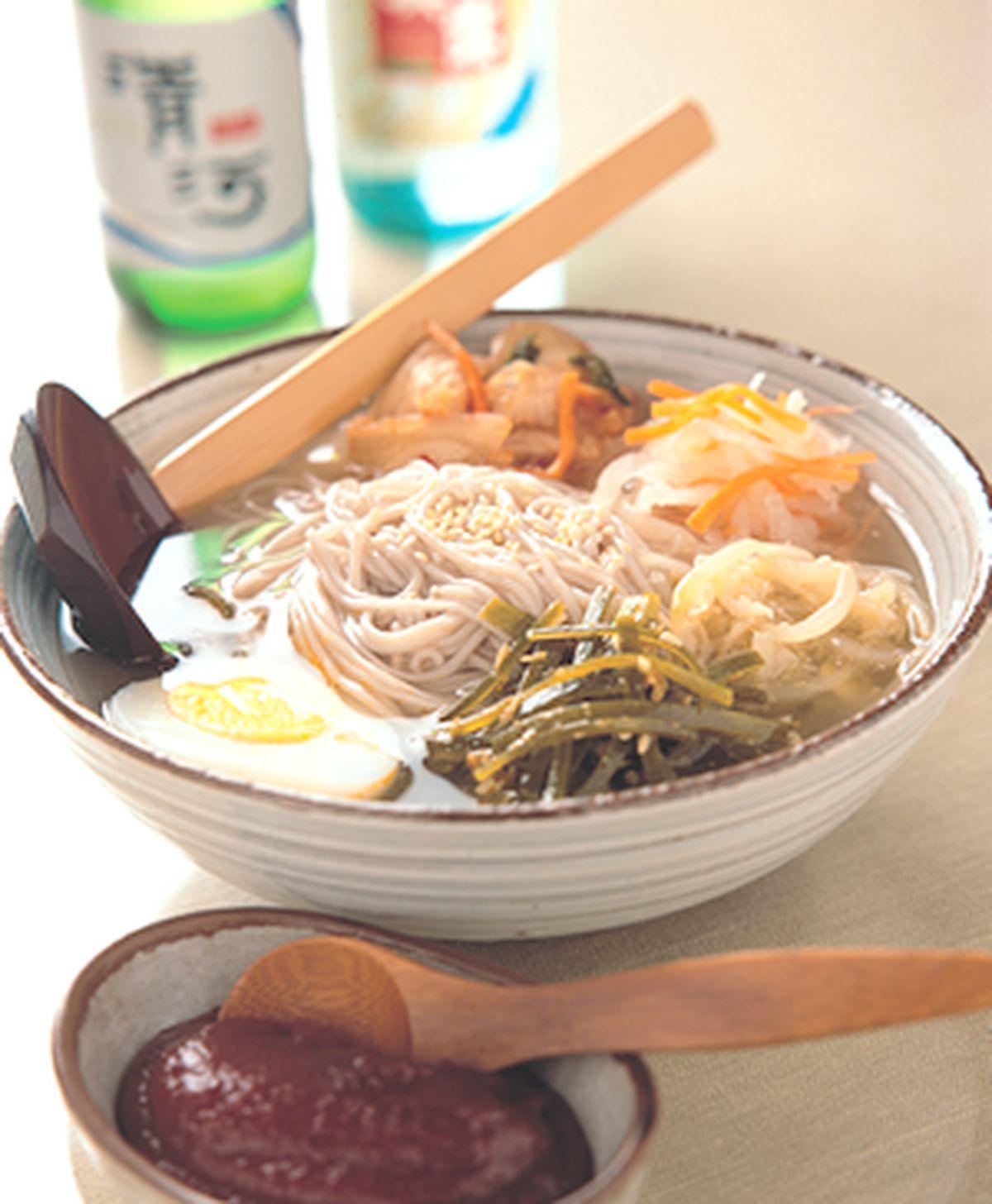 食譜:泡菜冷湯麵