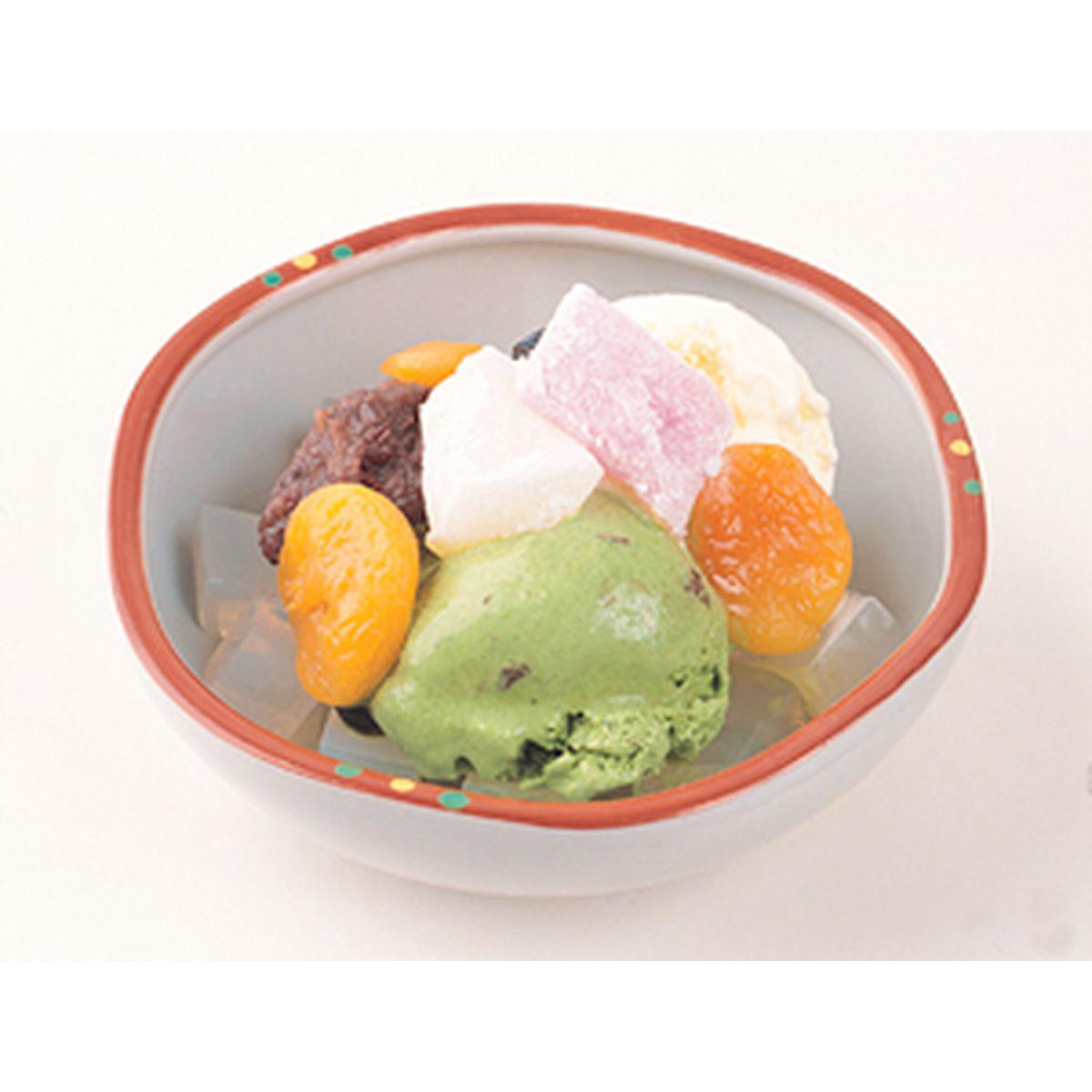食譜:雙色冰淇淋蜜果