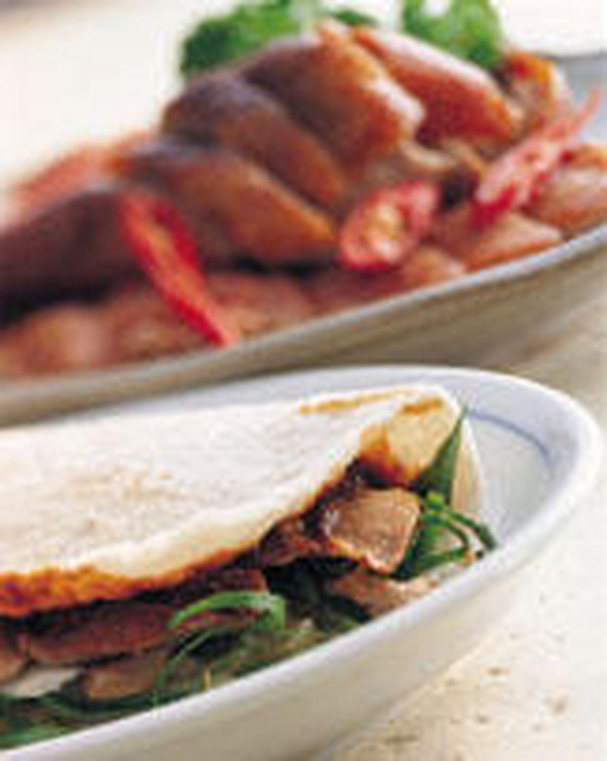 食譜:烤鴨夾餅