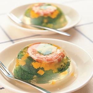 鮮蝦綠椰凍