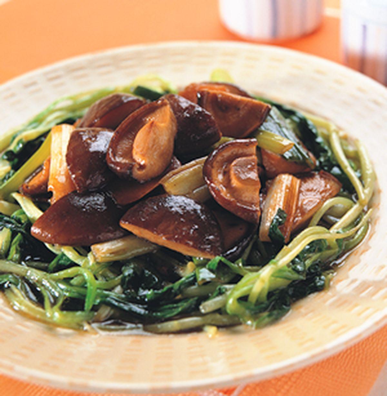 食譜:菇筍扒豆苗