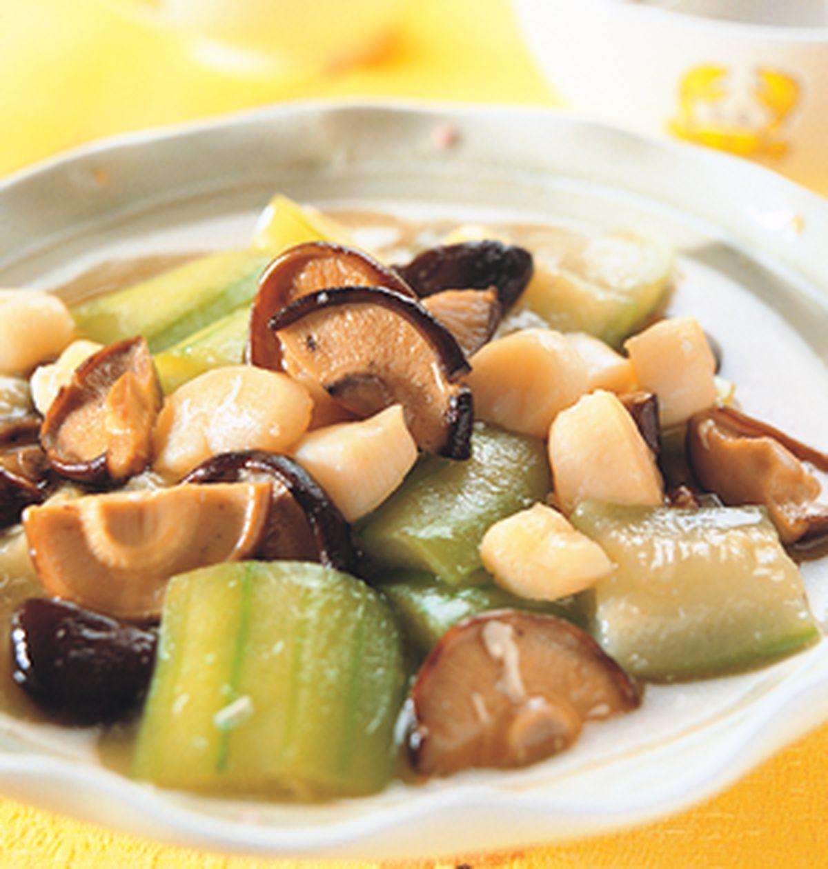 食譜:香菇干貝燴絲瓜