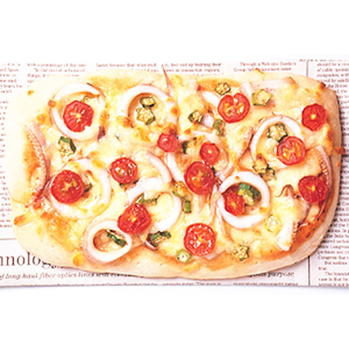 食譜:海鮮蕃茄披薩