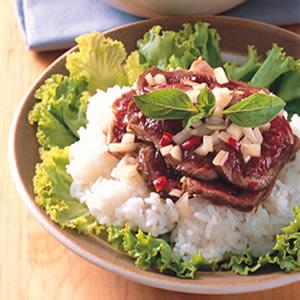 泰式生牛肉拌飯