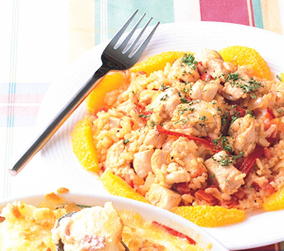食譜:西班牙番紅花悶雞飯