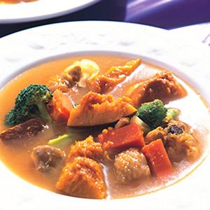 咖哩南瓜雞肉湯