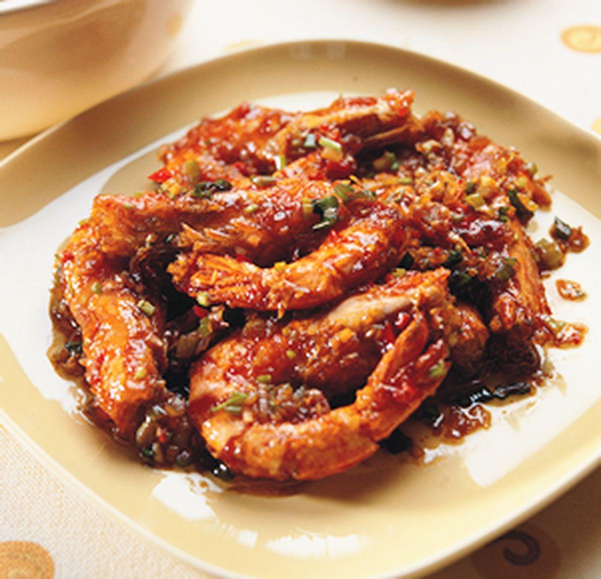 食譜:乾燒斑節蝦