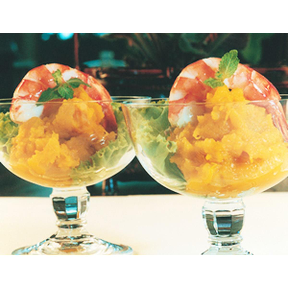食譜:南瓜鮮蝦沙拉