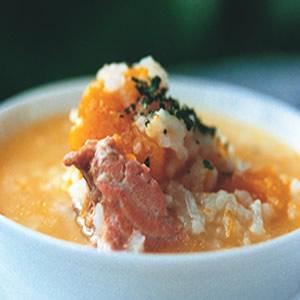鮭魚南瓜稀飯
