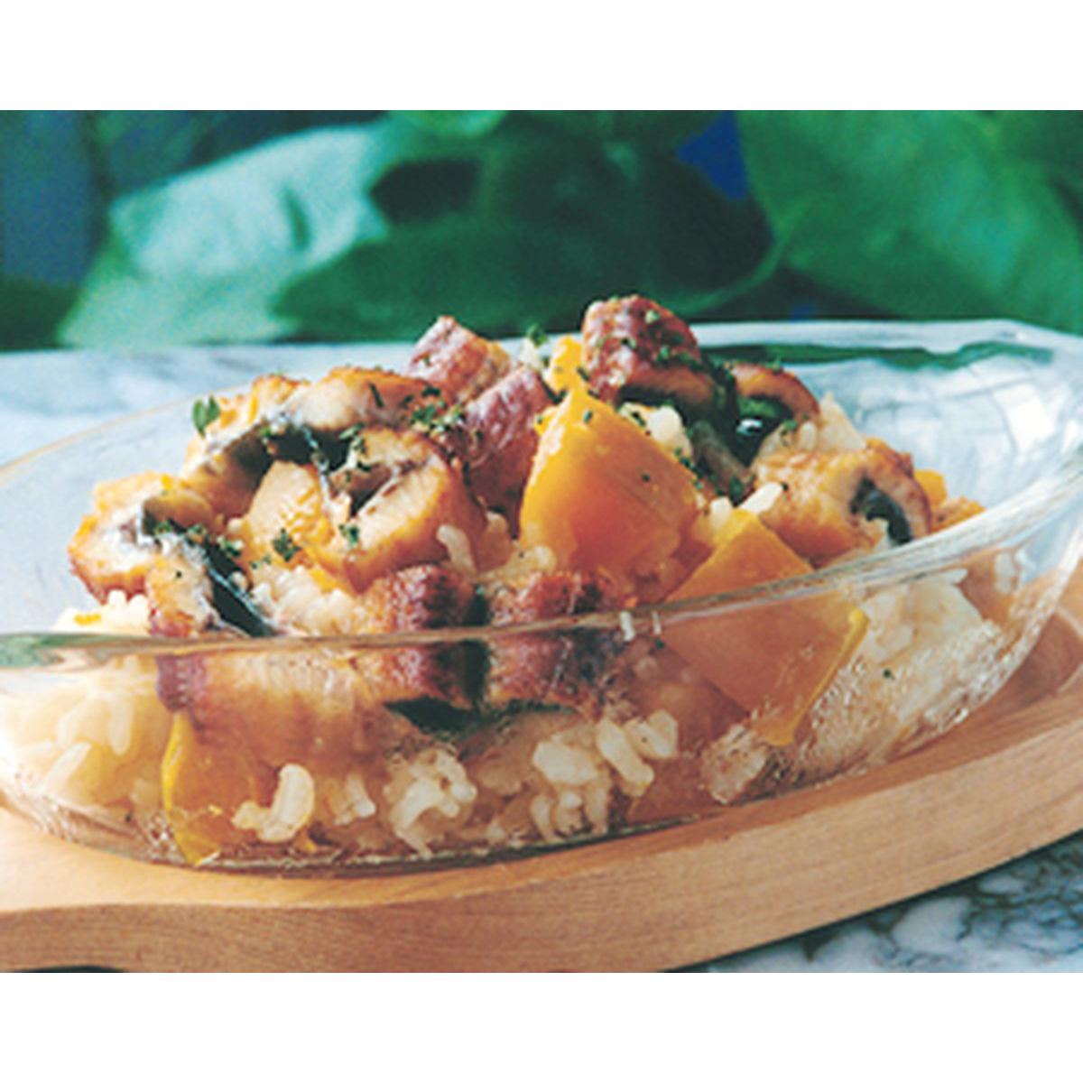 食譜:鰻魚南瓜飯