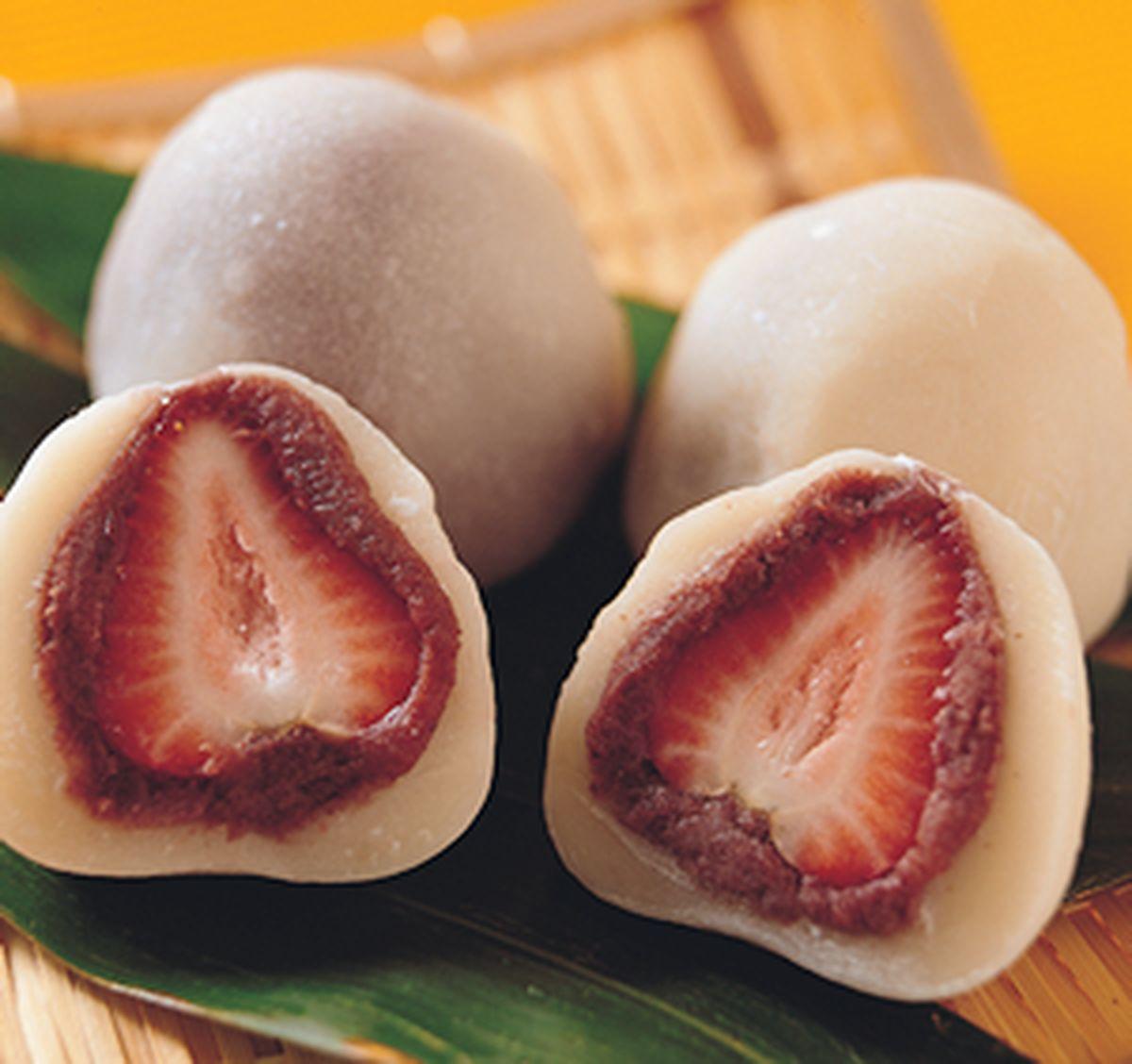 食譜:草莓金時大福