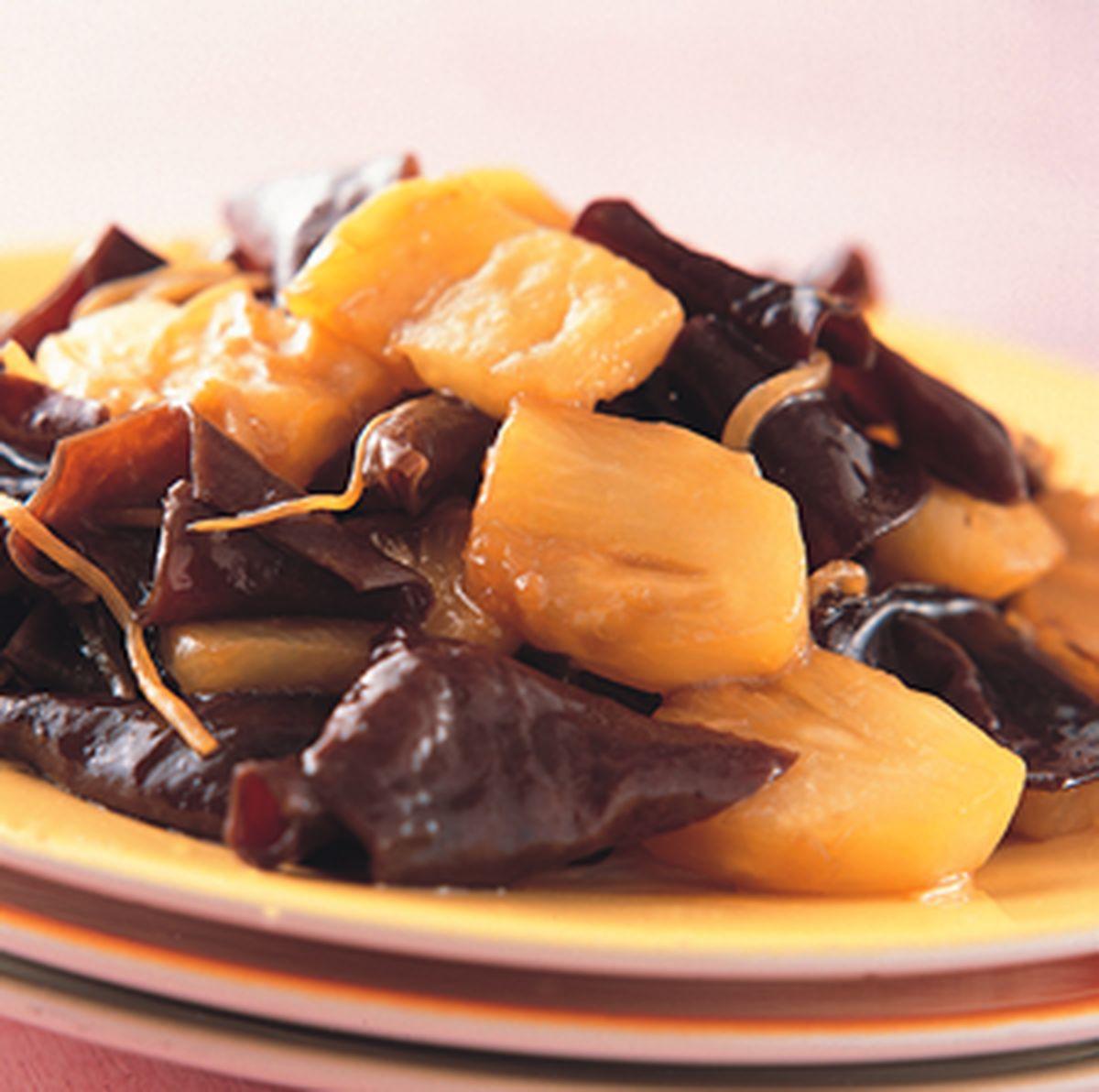 食譜:鳳梨炒木耳
