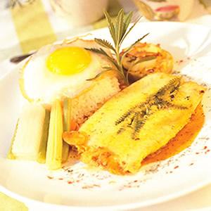 酥炸薰衣草鯛魚