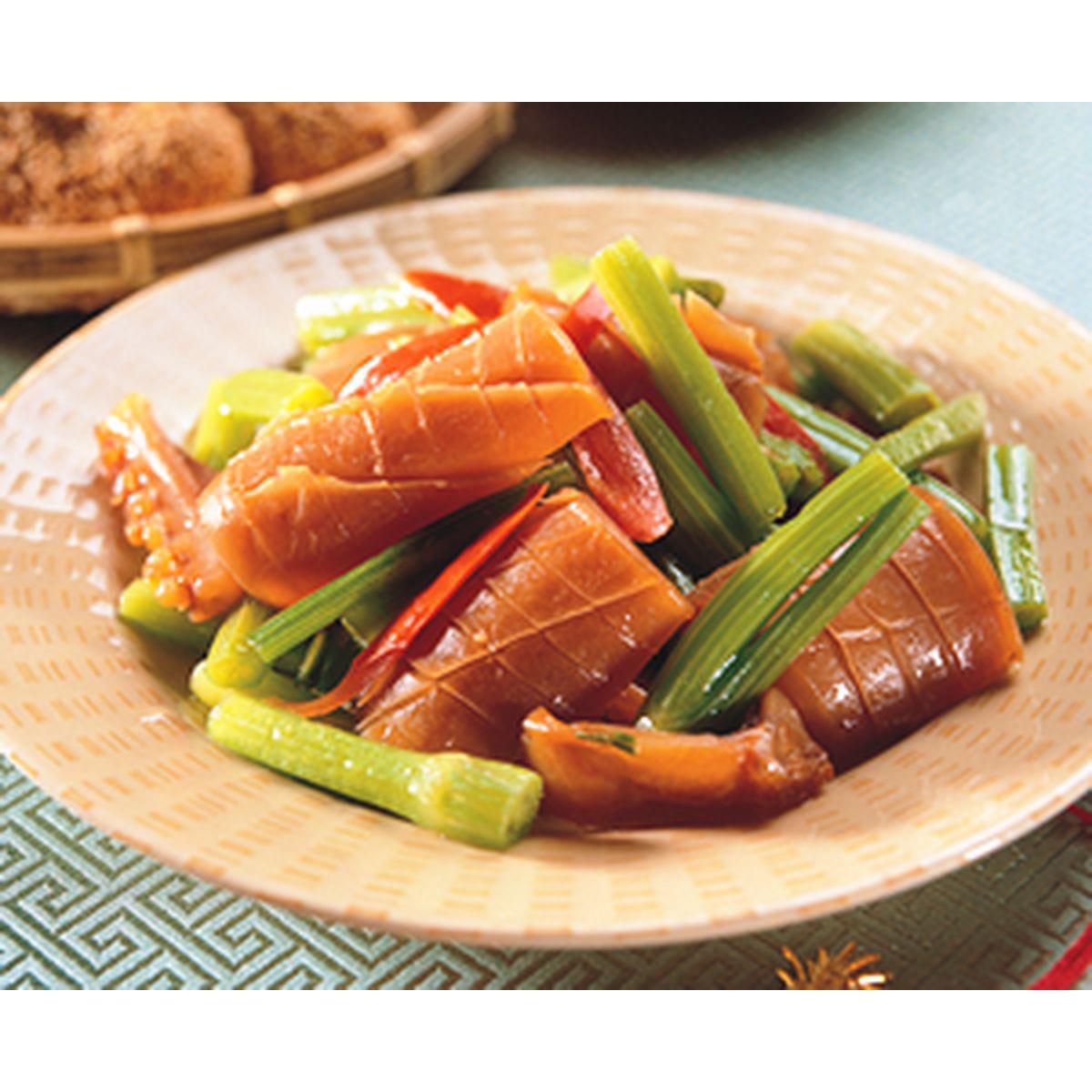 食譜:魷魚炒芹管