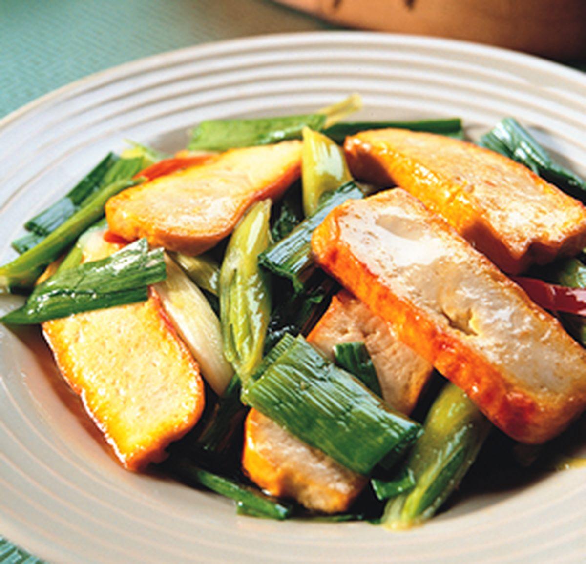 食譜:豆干炒青蒜