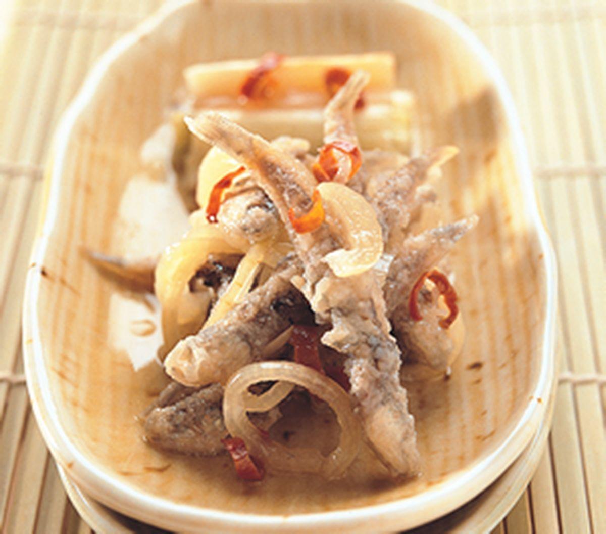 食譜:丁香魚南蠻漬