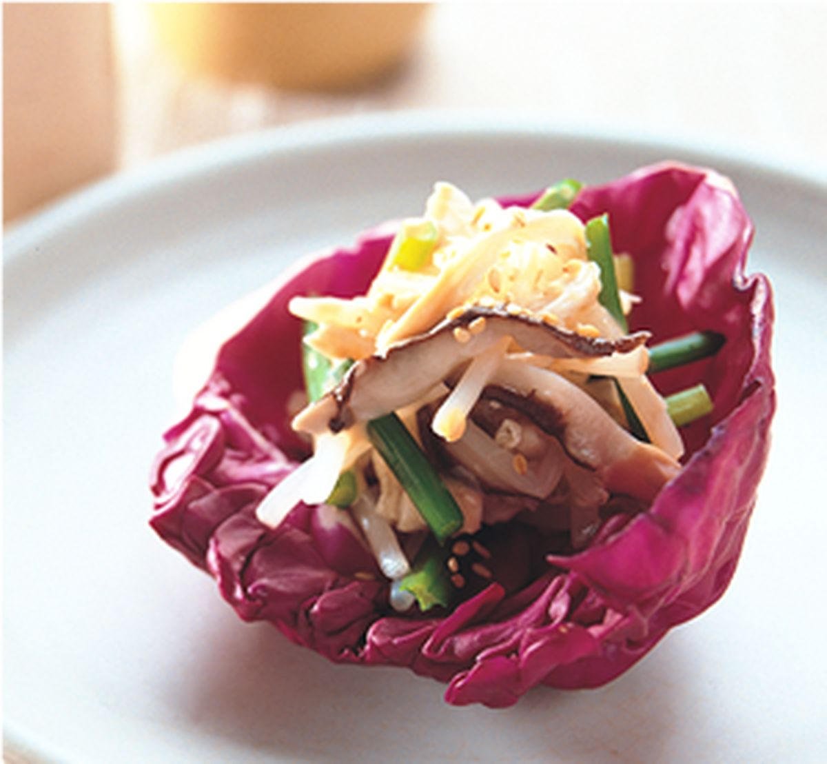 食譜:胡麻拌韭菜雞絲