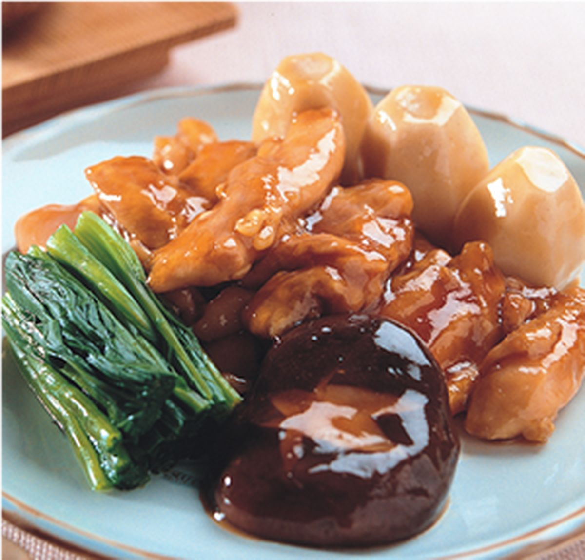 食譜:雞肉治部煮(1)