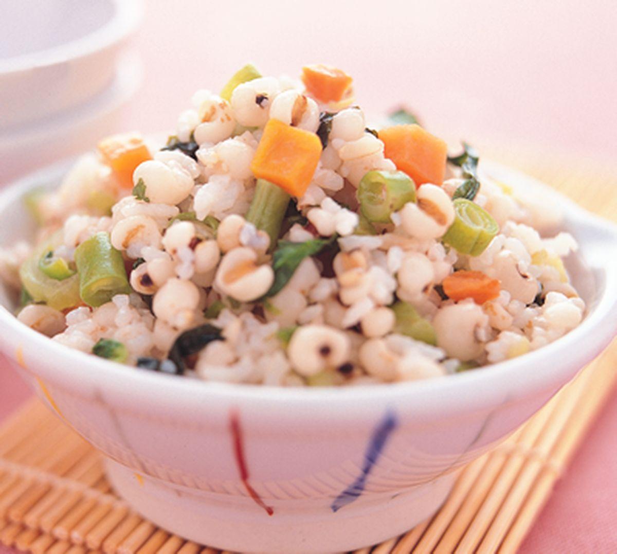 食譜:薏仁蔬菜飯