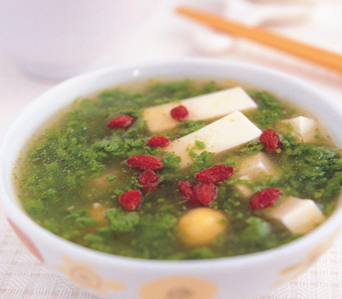 食譜:翡翠豆腐羹