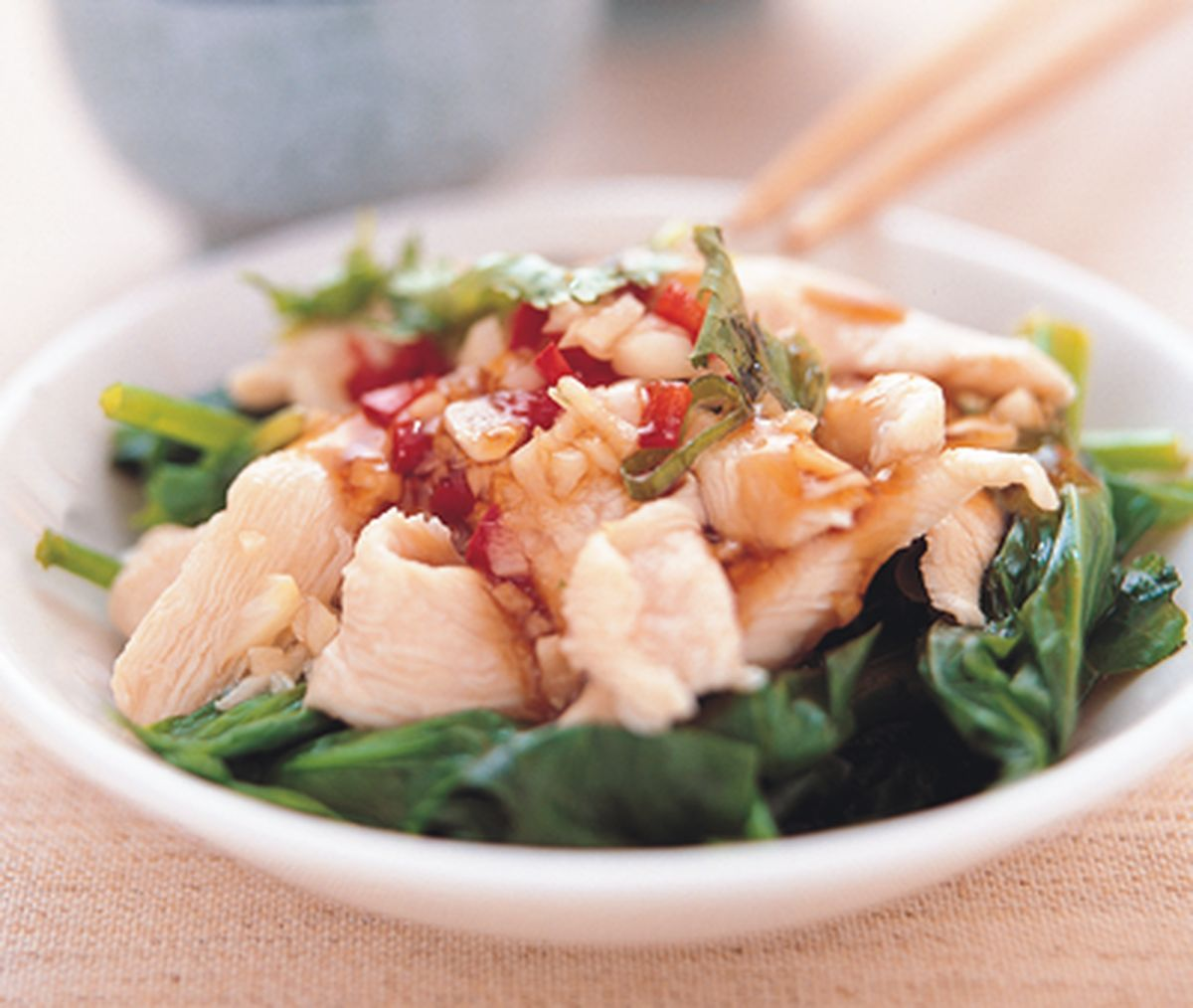 食譜:蒜味涼拌雞肉