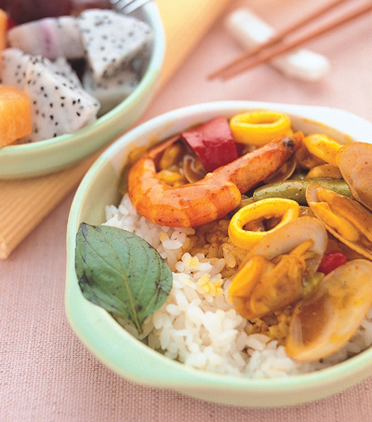 食譜:海鮮咖哩飯