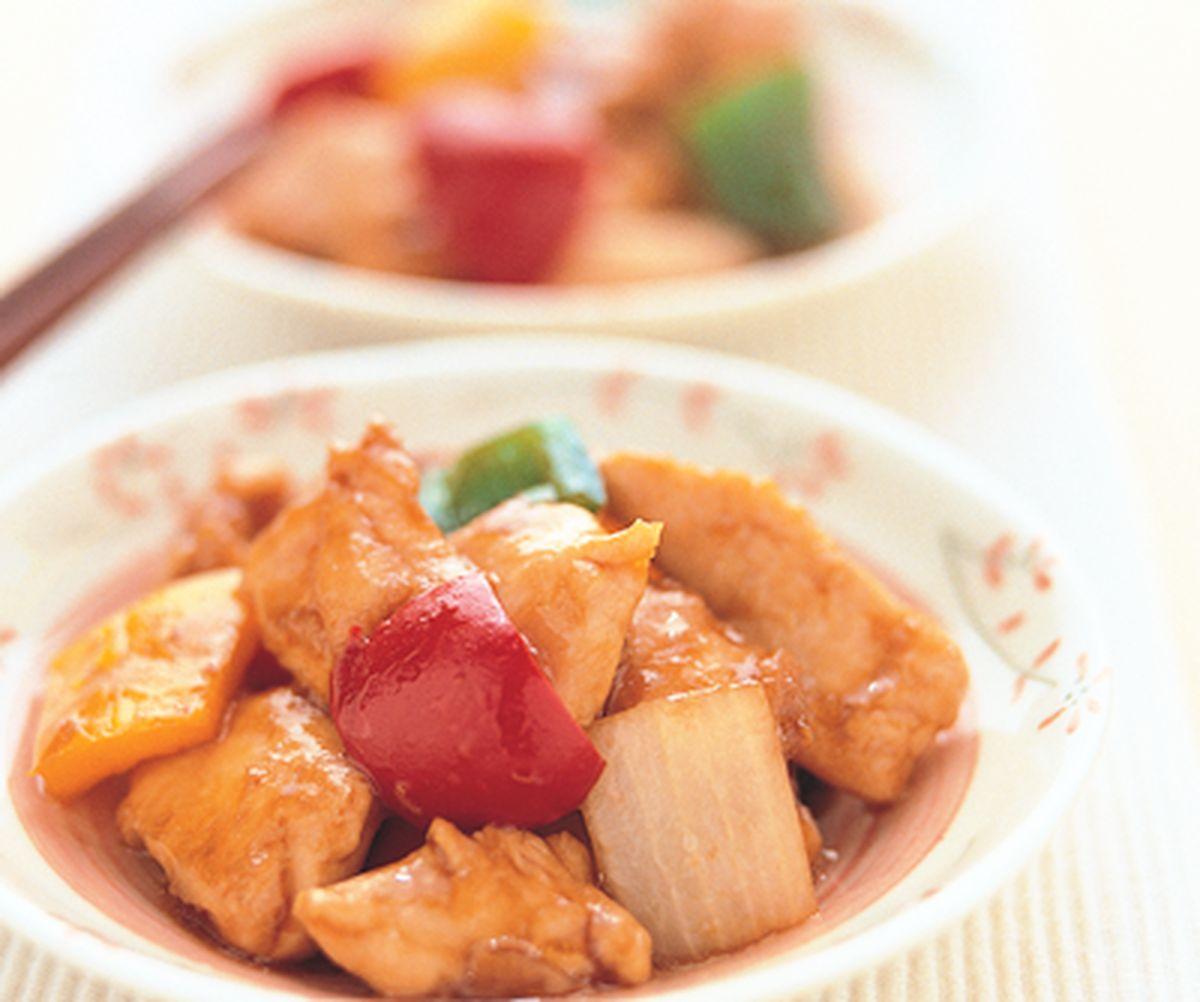 食譜:三椒炒雞丁