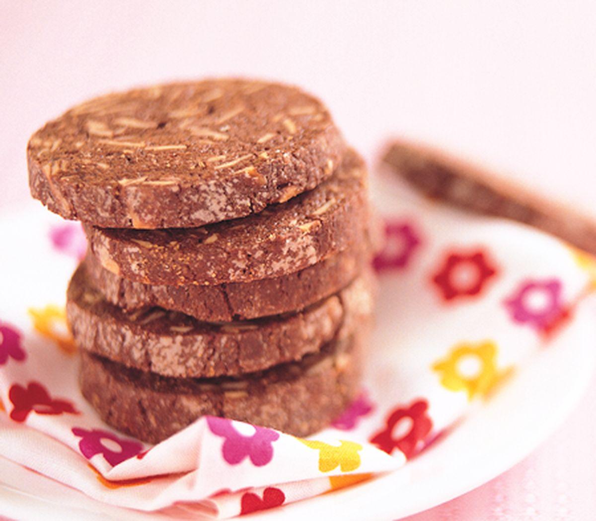 食譜:巧克力杏仁酥片