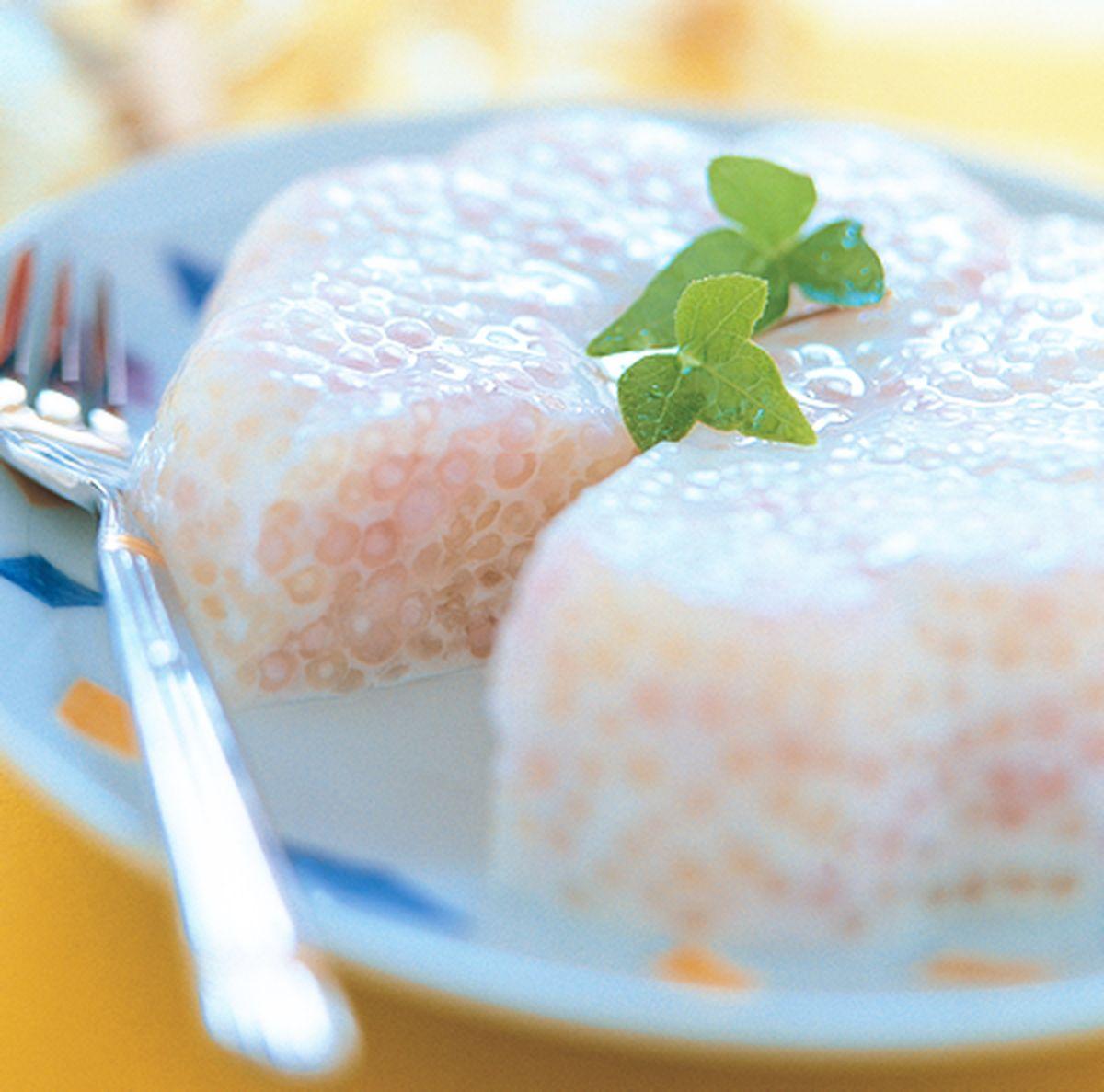 食譜:三彩珍珠布丁