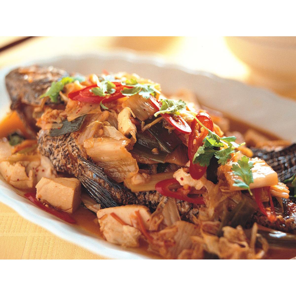 食譜:泡菜煨石斑魚