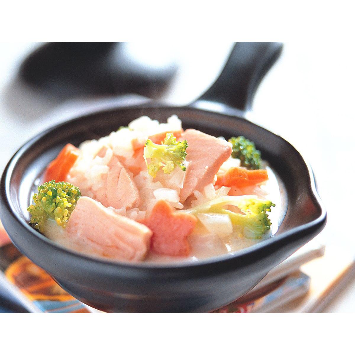 食譜:鮮奶鮭魚燉飯